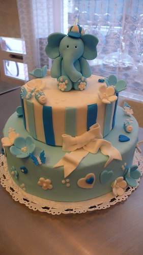 Boys Baby Show Cake by CAKE Amsterdam - Cakes by ZOBOT