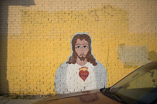 Jesus brick wall