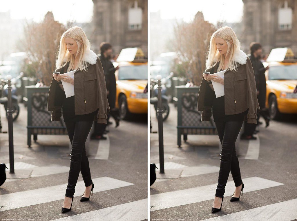 Stockholm Streetstyle PFW blond