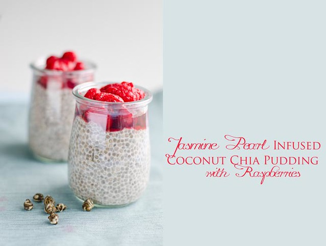 Jasmine Infused Chia Seed Pudding with Raspberries