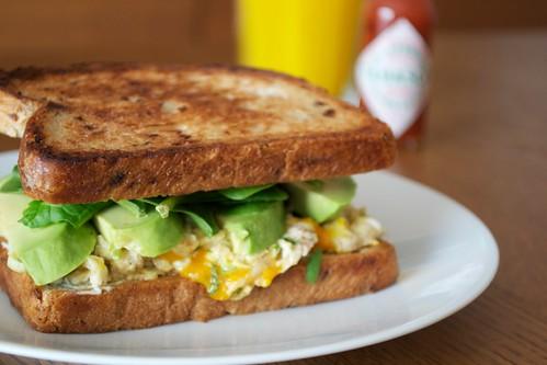 Sandwich petit-déjeuner