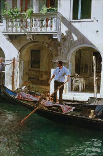 "Venice oil sketch 23¾"" x 16"""