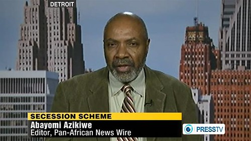 Abayomi Azikiwe, editor of the Pan-African News Wire, was featured on the Press TV News Analysis program on March 7, 2012. The segment focused on the secessionist plot to divide the oil-rich North African state of Libya. by Pan-African News Wire File Photos