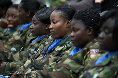 UNIFIL women peacekeepers honoured on International Women's Day, 08 March 2012
