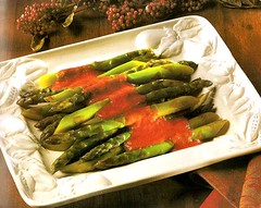 fish(0.0), produce(0.0), meal(1.0), vegetable(1.0), asparagus(1.0), food(1.0), dish(1.0), cuisine(1.0),