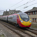 Brand new Virgin Pendolino 390 056 at Carnforth on test run.  9th March 2012