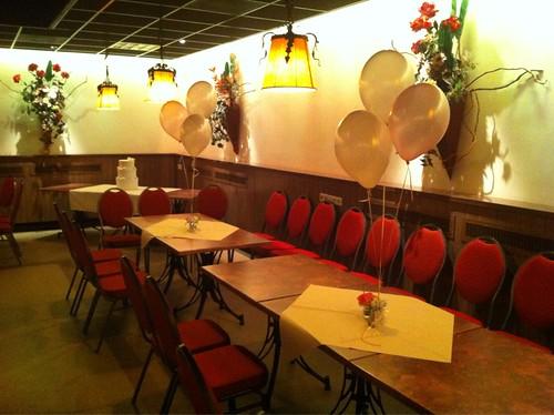 Tafeldecoratie 3ballonnen Flamingo Hoogvlietv