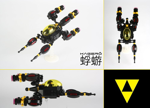 """蜉蝣 KAGERÔ"" Blacktron starfighter"