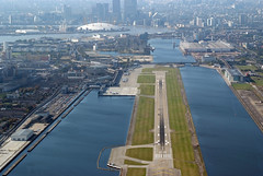 Aerial shot of London City Airport (4)