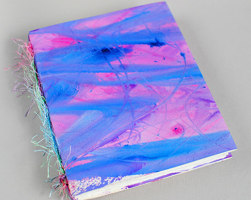 Purple Ink and Gesso Book 1
