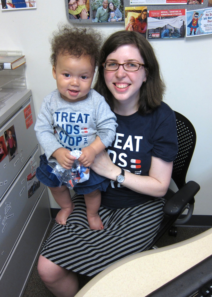 Mikhaela and Baby Z after the Doctors Without Borders AIDS rally last year.
