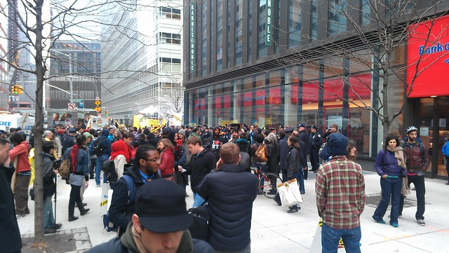 Full view of the #OWS Bank of America protest