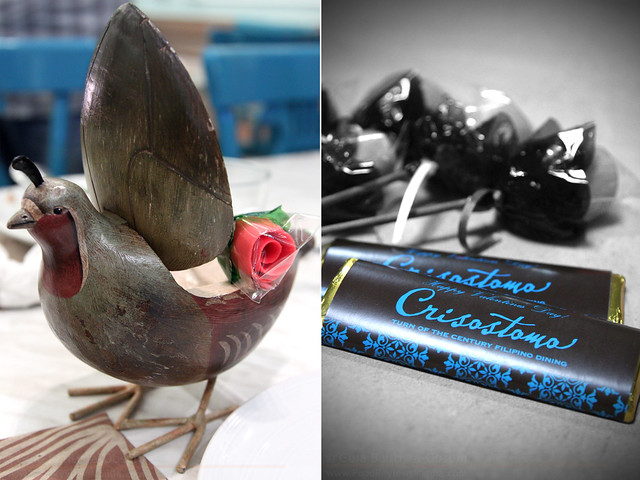 Crisostomo chocolates and rose pastillas