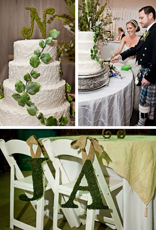 reception cake table
