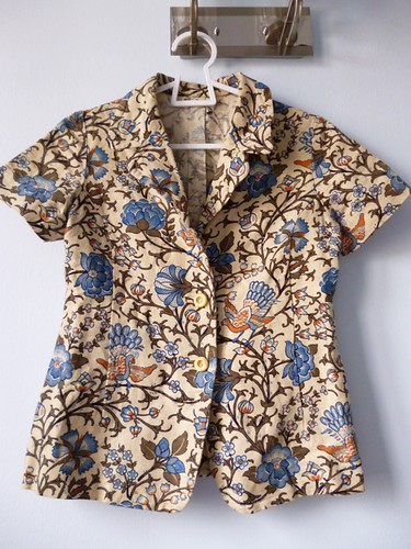 asian print blazer