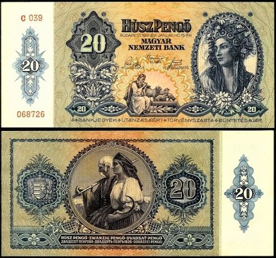 20 Pengő Maďarsko 1941, Pick 109