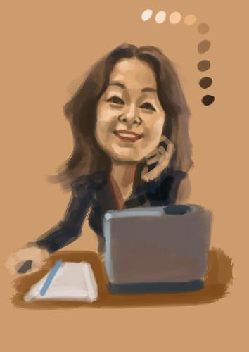 digital caricature of a stockbroker -1
