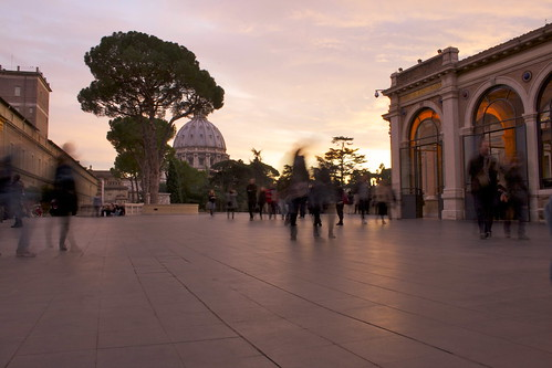 Sunset in vatican