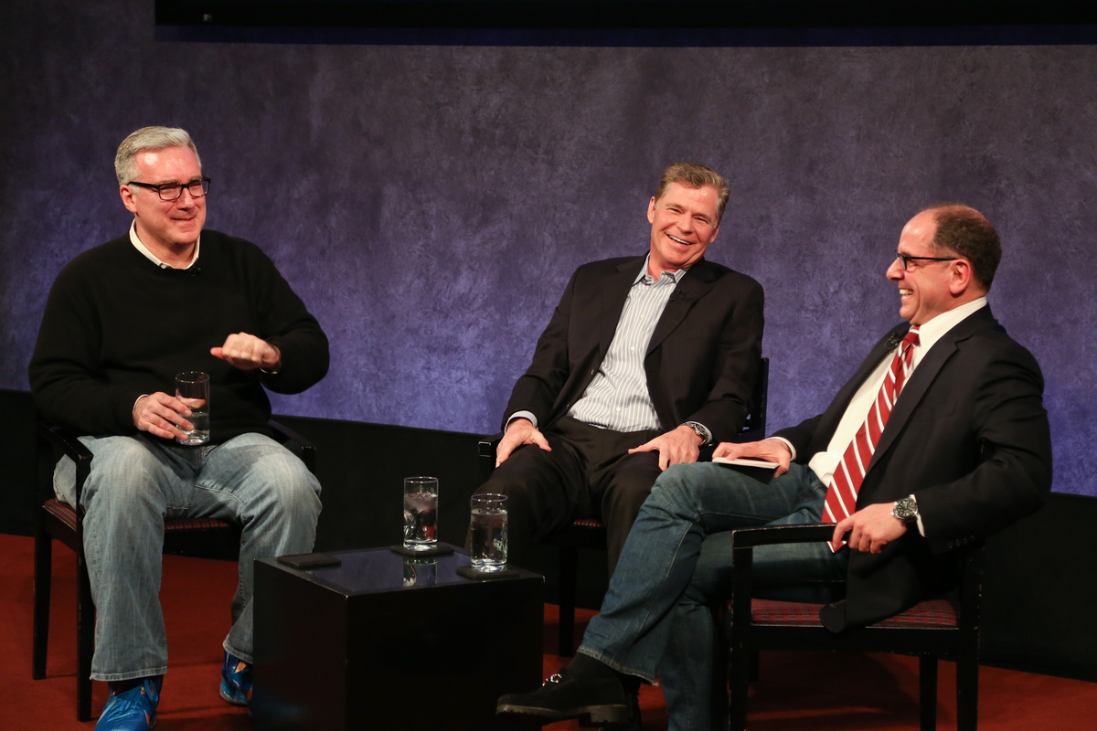 Keith and Dan with Jim Miller at the Paley Center