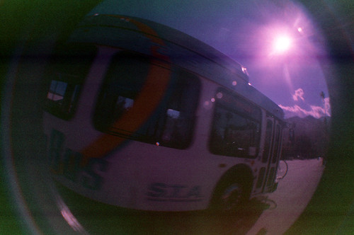Coachella Fisheye Bus