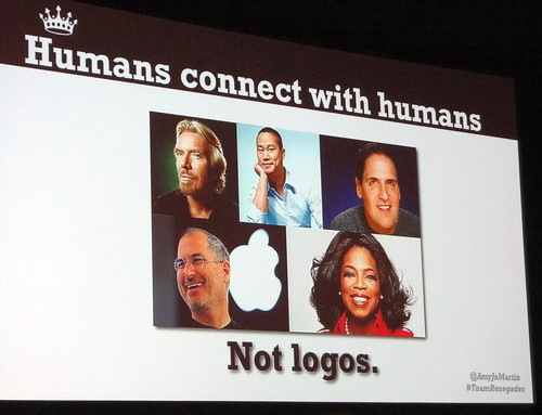 humans connect with humans  not logos