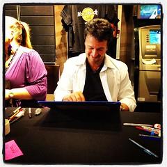 JRJR sketching Hobgoblin for me