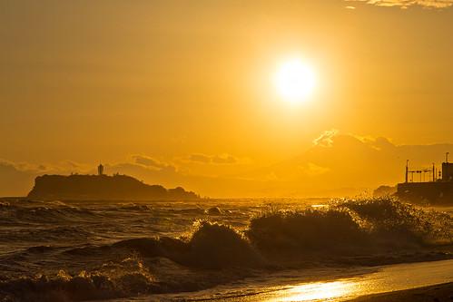 sea sky sun sunlight seascape beach backlight seaside seascapes wave enoshima shonan shichirigahama
