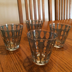 Mid century modern cocktail glasses from the CCSC Sunshine Shop