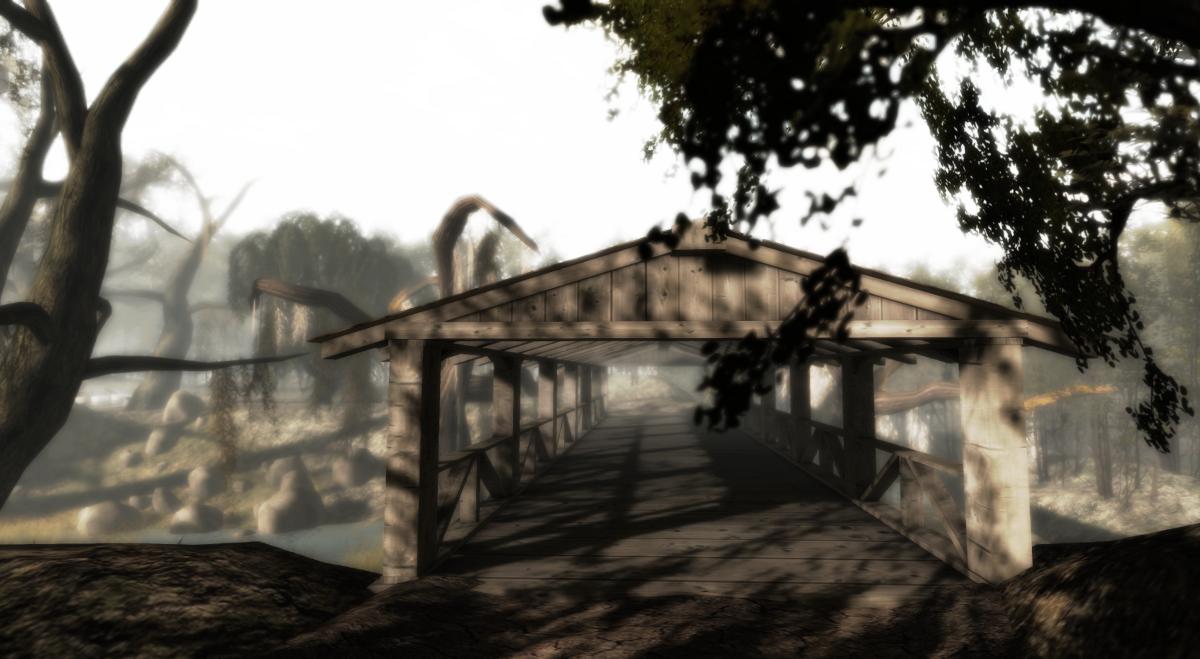 A bridge in the myst