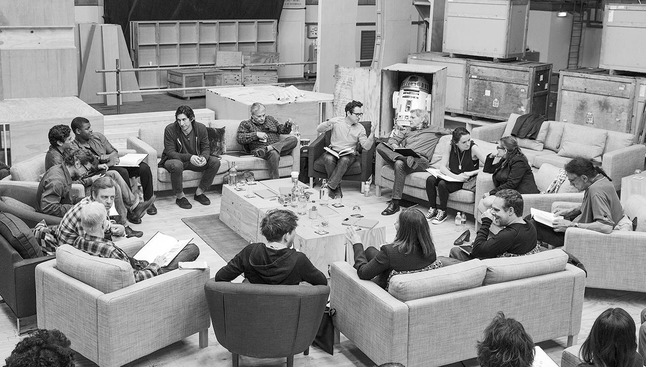 Elenco de Star Wars VII reunido