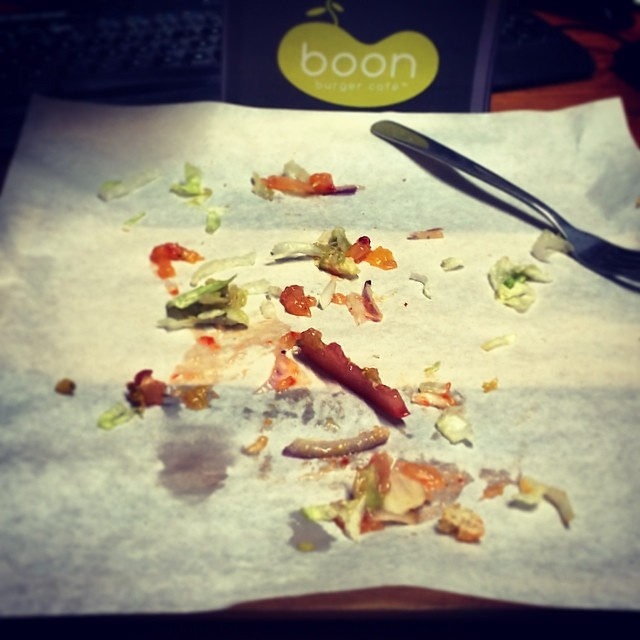 I was going to take a picture of my Boon burger... But this happened.