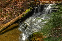 Waterfall in Hell Hollow, Lake Metroparks in Ohio