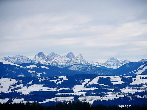 Die Allgäuer Alpen im Winterkleid