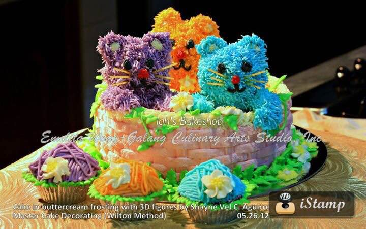 Three Little Kittens Buttercream Cake by Shayne Aguirre-Cinco