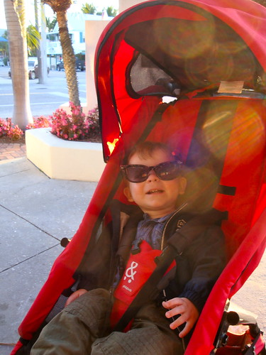 Looking cool in momma's shades
