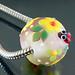 Charm bead : Ladybug garden