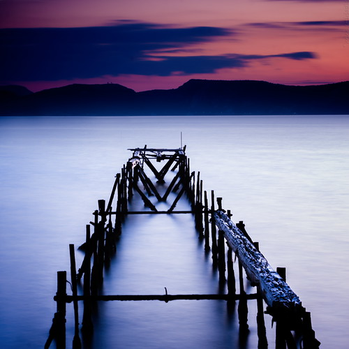 longexposure blue sunset sea sky orange seascape black water clouds canon landscape pier dock published purple decay greece canonef50mmf14usm aspropyrgos canoneos40d
