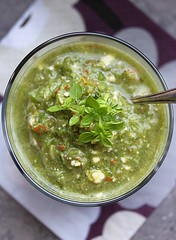 Wheatgrass gazpacho
