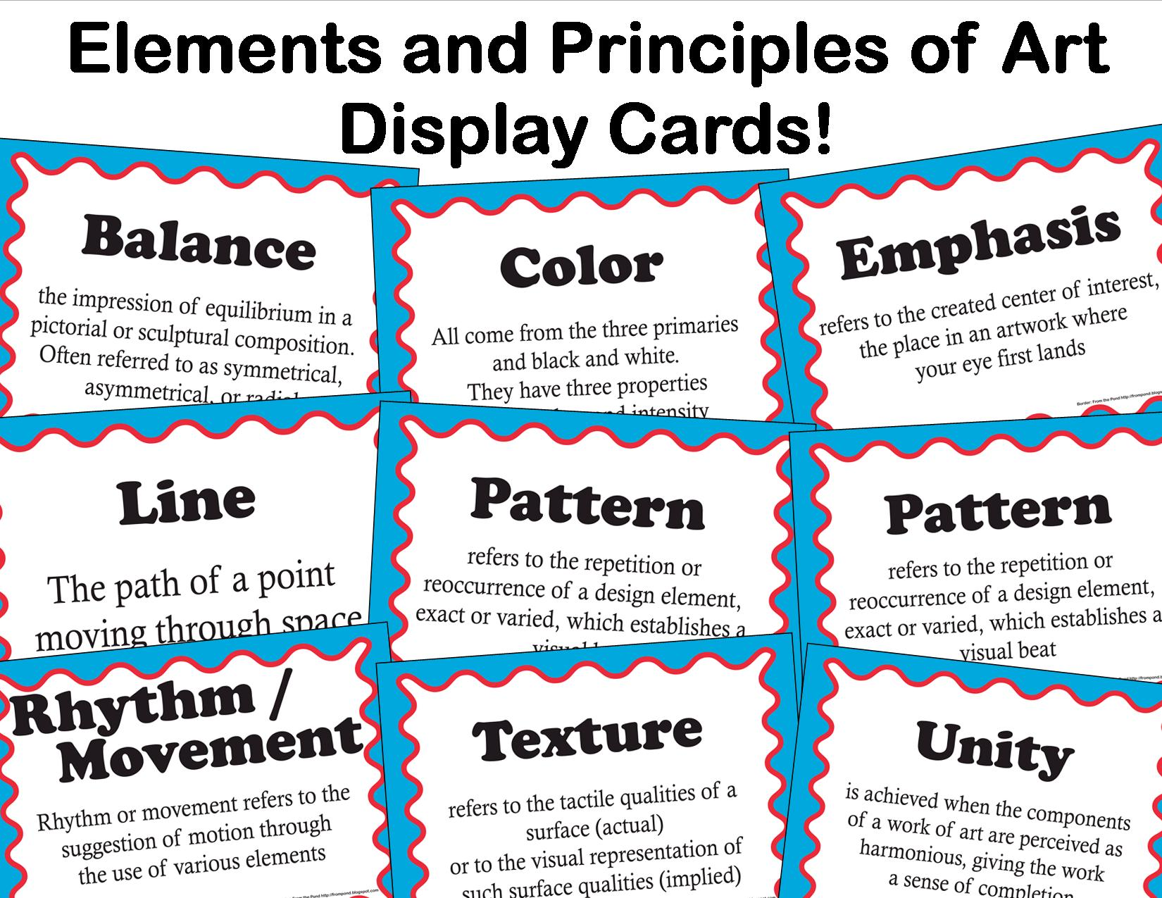 Elements And Principles Of Art And Design : Elements of art lessons tes teach