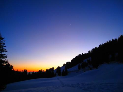 sunset moon snow lune neige aldor crépuscule