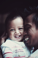 [Free Images] People, Children - Babys, Family / Parent and Child, Laugh / Smile, Indonesian People ID:201203101200