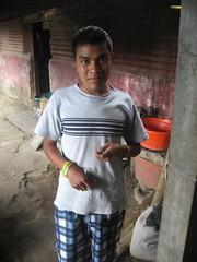 Ricardo receiving a memory card