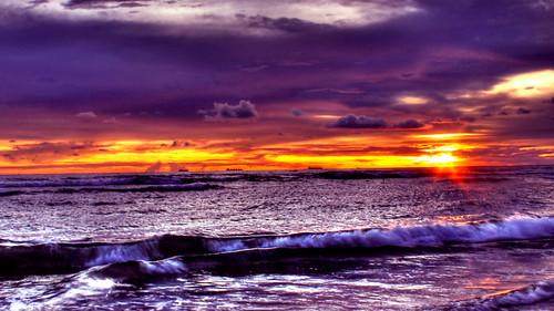 sunset orange cloud sun color beach beautiful digital canon eos three boat paradise tint processing romantic editing tone hdr 500d