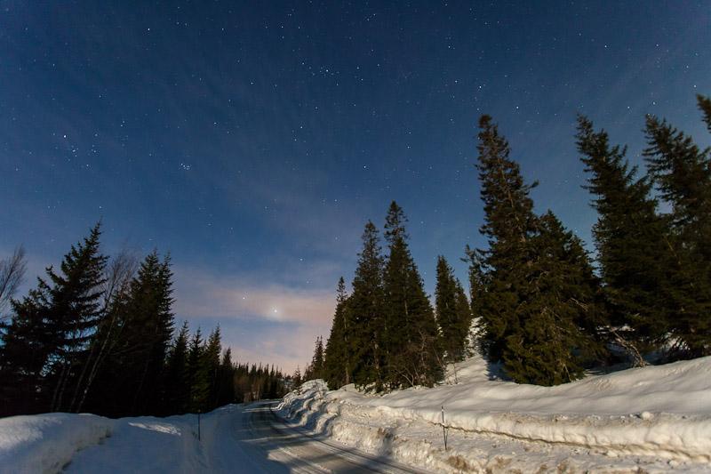 Daylight at night with stars