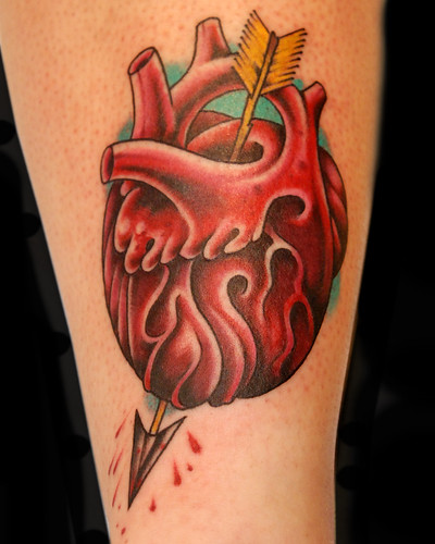 heart and arrow by Chris Adams  by UndertheNeedle