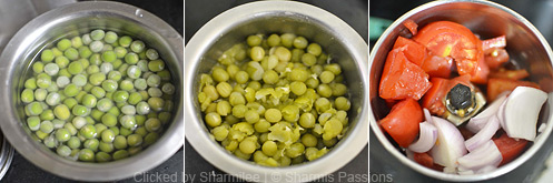 Green Peas Masala Recipe - Step1