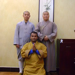 Thu, 17/03/2011 - 16:43 - Shaolin temple shi deyang and shi heng jun blessing shifu kanishka  Shaolin Kung Fu India