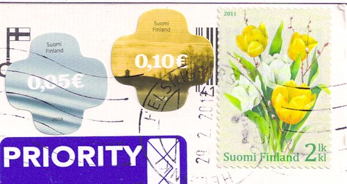 Finland Stamps-Yellow Flowers