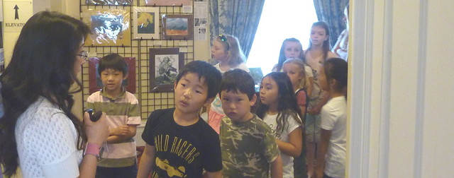 Photo of a group on children on a guided tour.