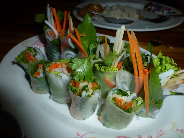 Very nice and cheap fresh spring rolls